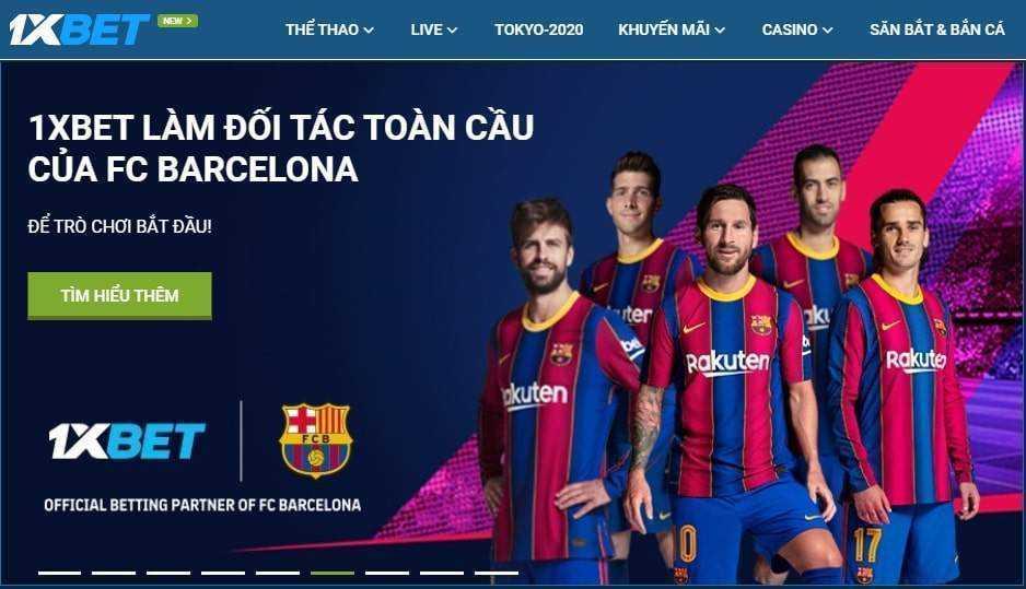 1xbet FC barcelona